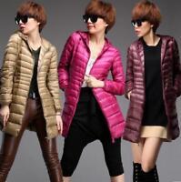 Women Outwear Puffer Overcoat Parka Ultralight Down Coat Packable Hooded Jacket@