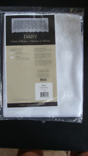 """Heritage Lace WHITE DAISY Tier - 60""""w x 24""""L - Package Has Been Opened"""