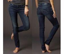 "Fox Racing Women's Snake Eyes Skinny Jeans / Midnight / Size 5 - Waist 27"""