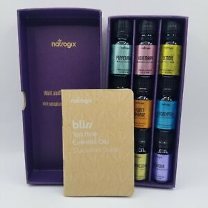Natrogix Bliss Top 9 Therapeutic Grade Essential Oil Box with quick start guide
