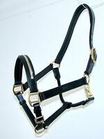 FSS Leather PADDED CRYSTAL BLING HALTER HEADCOLLAR Custom Made Sparkle NEW