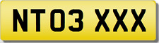 NT NTO  XXX SEXY  Private CHERISHED Registration Number Plate