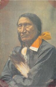 H96/ Native American Indian Postcard c1910 Rocky Bear Custer Wounded 192
