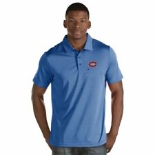 """NEW Montreal Canadiens Mens """"Quest"""" Striped Polo Shirt - Blue & White XL"""