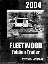 FLEETWOOD Popup Trailer Owner Manual 2004 Destiny Timberlake Cortez Pecos Tacoma