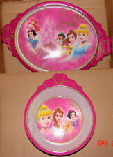 Disney Store Exclusive PRINCESS Girl's Meal Time Set Soup/Cereal Bowl & XL Plate