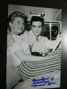 YVONNE LIME Hand Signed Autograph 4X6 Photo with ELVIS PRESLEY BEAUTIFUL ACTRESS