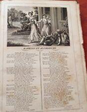 LA FONTAINE. DAPHNIS ET ALCIMADURE. FABLE ET GRAVURE 1834