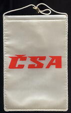 CSA Czech airlines desk flag (pennant) mint condition (no stand) box003