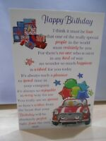 Happy Birthday I think it must be true  - read on for a truly amazing verse card