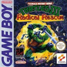 Nintendo GameBoy Spiel - Turtles 3: Radical Rescue mit OVP NEUWERTIG