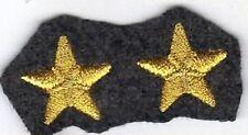 [Militaria] Coppia Stelle ricamate - Stellette oro su fondo grigioverde - mm 23