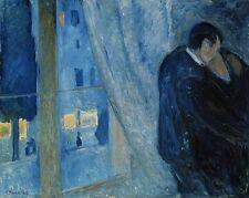 EDVARD MUNCH Kiss by the Window Art Canvas Print
