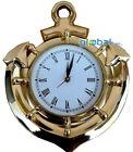 Brass Ship Wall Clock Anchor Nautical Clock Roman Numeral Wall Wheel Clock