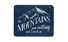 The Mountains are Calling Mouse Mat Pad - Ski Snowboard Fun Computer Gift #19137