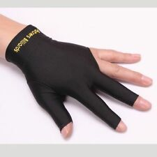 Spandex Snooker Billiard Cue Glove Left Hand Three Finger Gloves Open Useful