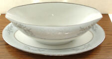NOS-Gravy Boat w/attached underplate, Blueridge by Noritake, made in Japan