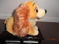 Disney Store Lady & The Tramp Plush Toy Dog Exclusive Stuffed Animal