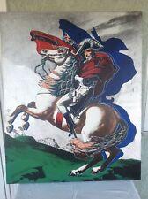 David Napoleon Bonaparte Crossing Grand Saint-Bernard Pass -Silver 41x34