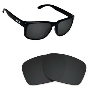 Scratch Proof Polarized Replacement Lenses for-Oakley Holbrook Sunglass Black