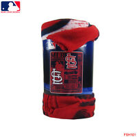 "Brand New MLB St. Louis Cardinals Large Soft Fleece Throw Blanket 50"" X 60"""