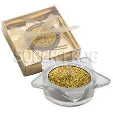 Set D'Oro Scintillante Tè Leggero Star portacandele votive regalo decorazione natalizia