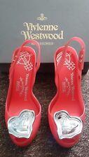 AUTHENTIC VIVIENNE WESTWOOD X MELISSA Lady Dragon Heart Shoes Heels UK5 US7 EU36