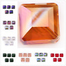 Crystal Glass Square Spacer Craft Beads 14mm Jewelry Makings Finding Bead 10Pcs