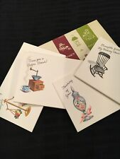 Vintage Set 35 cards STATIONERY POST A NOTE CARDS IN ORIGINAL BOX by Current