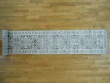 "2'6""x17' Hand Knotted Undyed Natural Wool Mamluk Design XL Runner Rug R35522"