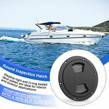 New Marine Boat Black 5inch Access Hatch Cover Twist Screw Out Deck Plate 5inch