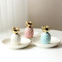 Ceramic Pineapple Rings Earrings Holder Jewelry Dish Display Trinkets Trays