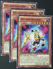 Set 3X GILLAGILLANCIERE  LVAL-IT003 Comune in Italiano YUGIOH