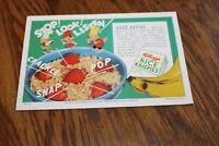 Ink Blotter Advertising Kellogg's Rice Krispies Unused Vintage 1950's