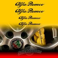 4 Adesivi pinze freni ALFA ROMEO stickers NERO 147 GIULIETTA MITO GIULIA  GT
