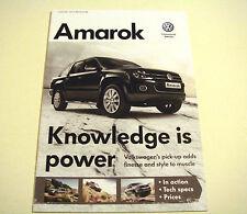 Volkswagen . Amarok . Volkswagen Amarok . January 2012 Sales Brochure