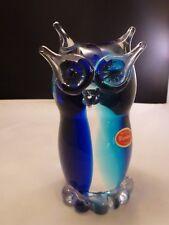 Murano Glass Owl Sculpture / Italian Circa 1960's / Mid Century Modern STICKER
