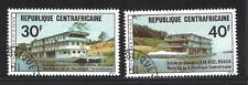 Bateaux Centrafrique (101) série complète de 2 timbres oblitérés