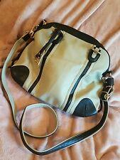 grey and brown tote bag by gussaci
