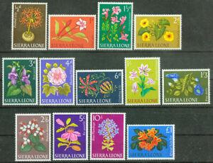 Sierra Leone 1963, Flowers Flora Mi.# 208-220, MNH