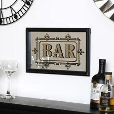 Black retro pub bar mirror gold wall art retro chic home decor vintage boho gift