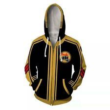 Karate Kid Cobra Kai Hoodie Jacket Zip Coat Casual Sweatshirt Cosplay Costume