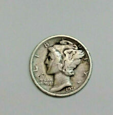 MUST SEE!! XF!! RARE! 1921 Mercury Silver Dime lot --MUST SEE PHOTOS!!