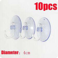 10 piezas/Paquete Transparente Ganchos De Pared Percha Baño Cocina Ventosa JU