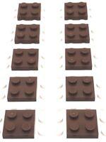 Lego Part 4216695 2x2 Plate X10 - 3022 Reddish Brown