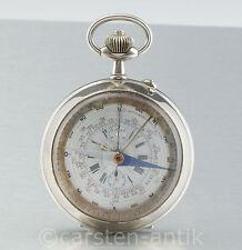 Montre Boussole Capitaine Vincent Taschenuhr mit Kompass, Chronograph Tachymeter