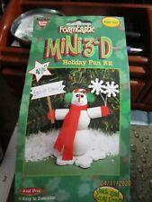 "Nicole Foamtastic Mini 3~D Spring Holiday Fun 4.5"" SNOWMAN Craft Kit #FOM 497"