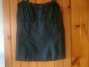 Nanette Lepore Ivory Lace Blouse Size Large Womens Lined Exposed Zipper euc