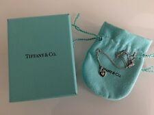 Tiffany & Co. Diamond White Gold Heart Necklace   18k