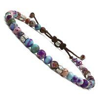 BENAVA Damen Yoga Armband Bunt aus Jaspis Edelstein Perlen Freundschaftsarmband